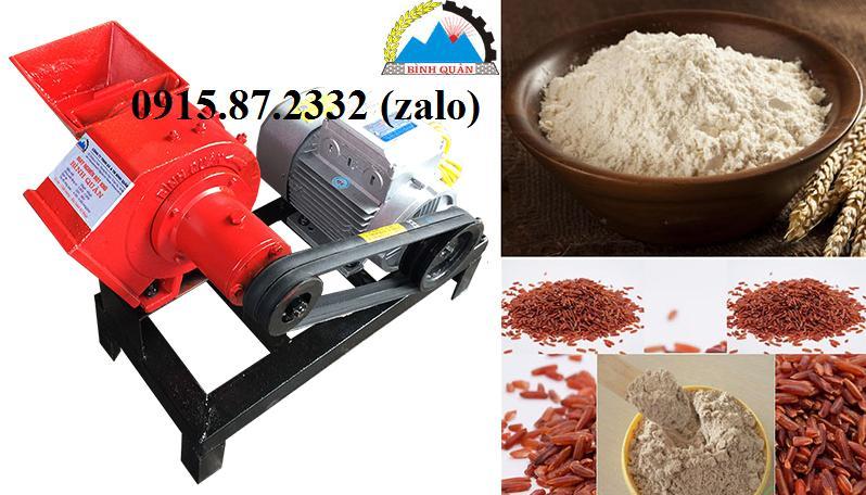 Máy nghiền bột mịn từ các nguyên liệu ngũ cốc có dầu, thảo dược, tinh bột nghệ, lá khô, cao khô, hoa quả khô, cá khô, gạo ngâm ẩm, ...tất tần tật, năng suất khoảng 30 kg 1 giờ