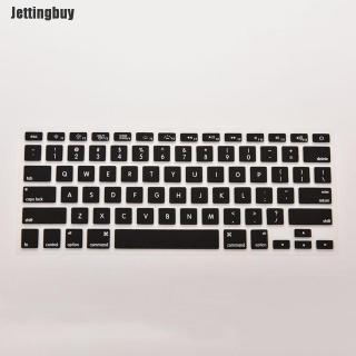 Jettingbuy Vỏ Bọc Da Bàn Phím Silicon Cho Macbook Air Pro 13 15 17 Inch Đen thumbnail