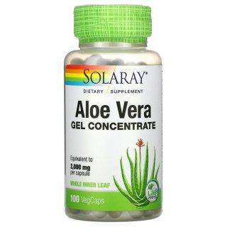 Chiết xuất nha đam, Solaray, Aloe Vera Gel Concentrate, 100 VegCaps thumbnail