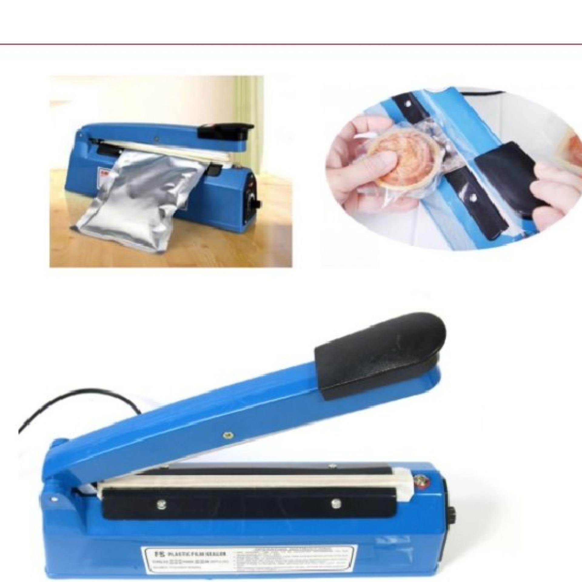 Máy hàn túi nilon dập tay Impulse Sealer PFS-200 (Xanh)  + Tặng Bộ dây nhiệt thay thế máy hàn túi [SEAL]