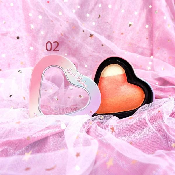 Phấn má kiêm bắt sáng thiết kế hộp thiếc cao cấp Kiss Beauty Heart Blusher 8g giá rẻ