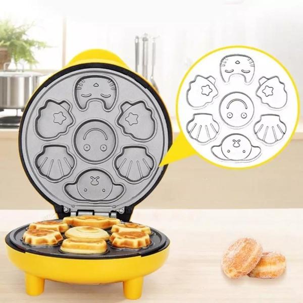 Máy nướng bánh bông lan gia lo nuong - Máy nướng bánh mini bằng điện cao cấp Nướng nhanh với khuôn bánh hình thú ngộ nghĩnh đáng yêu cho gia đình bữa sáng ngon miệng 2268011