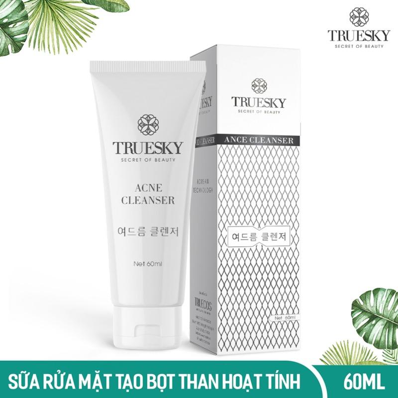 Sữa rửa mặt tạo bọt than hoạt tính Truesky giúp làm sạch sâu và ngăn ngừa mụn 60ml - Ance Cleanser