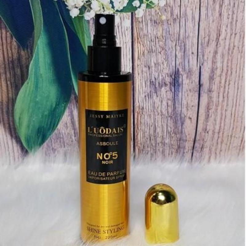 [XẢ HÀNG 3 NGÀY] Xịt dưỡng tóc hương nước hoa 220ml, Tinh dầu dưỡng tóc hương nước hoa N5 hương thơm nhẹ nhàng cho bạn mái tóc bồng bềnh, óng ả