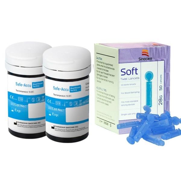 Que thử đường huyết Sinocare Safe Accu 50 que 50 kim chất lượng sản phẩm đảm bảo và cam kết hàng đúng như mô tả bán chạy