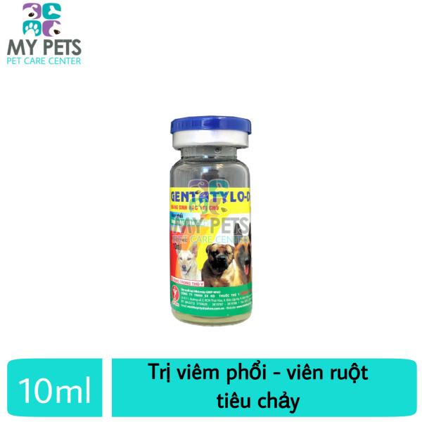 Thuốc tiêm trị viêm ruột, tiêu chảy, ói mửa, viêm vú cho chó - Gentatylo-D lọ 10ml