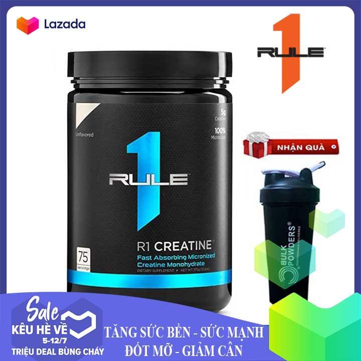 [TẶNG BÌNH LẮC] R1 Creatine của Rule 1 hỗ trợ Tăng Sức Bền, Sức Mạnh đốt mỡ giảm cân, giảm mỡ bụng cho người tập Gym và chơi thể thao - phân phối chính thức