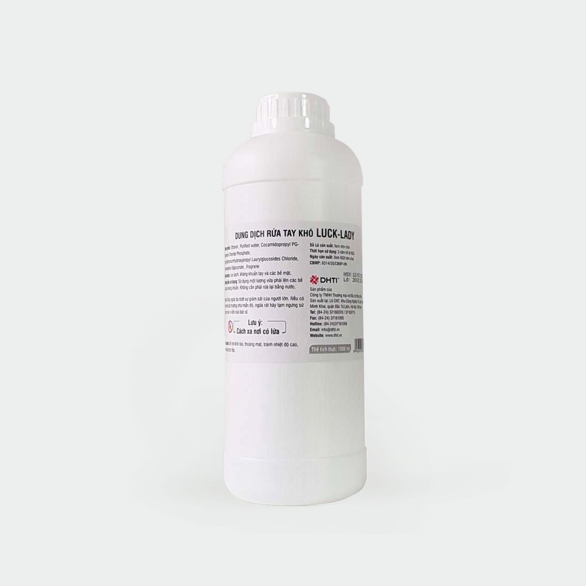 Dung dịch rửa tay khô Luck Lady (1 lít/ chai) nhập khẩu