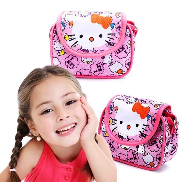 Túi đeo chéo họa tiết mèo xinh xắn cho bé