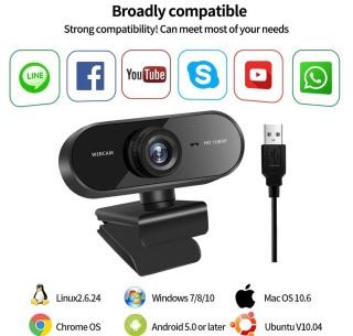 [Chính Hãng BH 6 Tháng] Webcam Máy Tính, Webcam Full HD 1080P Có Mic Học Online Qua ZOOM - Gọi Video Zalo thumbnail