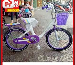 [Rẻ vô địch] Xe đạp cỡ 20 inh - cho bé gái 7- 10 tuổi thumbnail