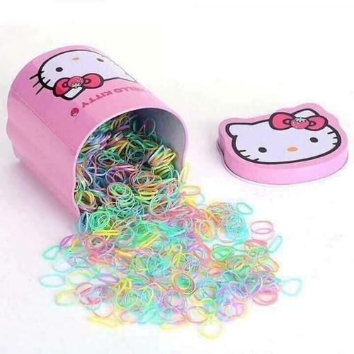 Giá bán Hộp dây chun buộc tóc loại dây nhỏ dễ thương cho bé