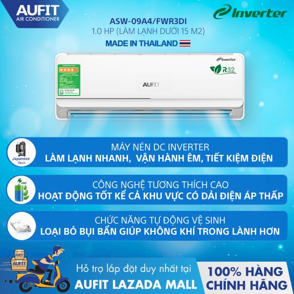 Bảng giá Điều hòa | Máy lạnh chính hãng - nhập khẩu Thái Lan AUFIT - Series Inverter 1.0 HP (ASW-09A4/FWR3DI) Điện máy Pico