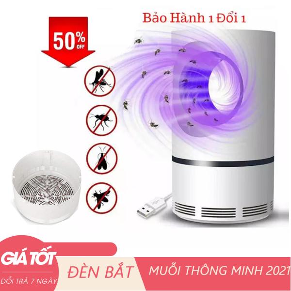 Đèn bắt muỗi thông minh - Máy bắt muỗi và diệt côn trùng quang điện tử tháp tròn DGS kiêm đèn ngủ (Trắng)