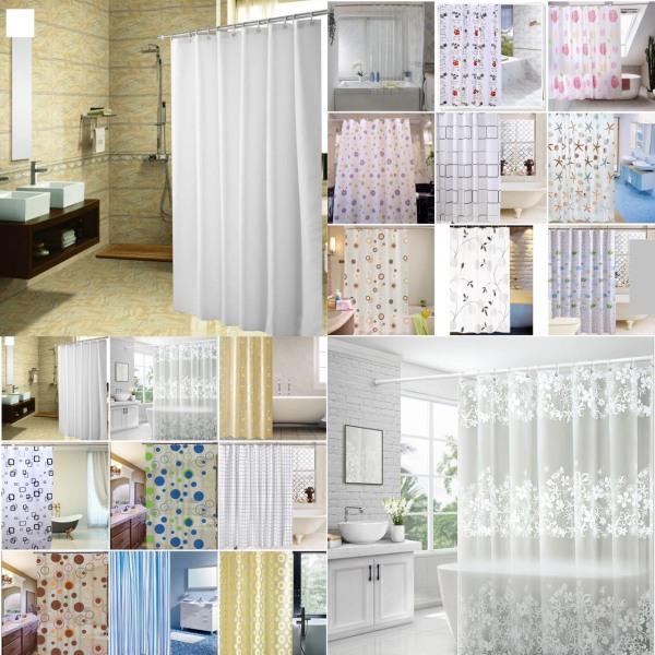 [HCM]Rèm phòng tắm nhựa PEVA chống thấm nước 1.8m x 1.8m cao kèm 12 móc RẺ VÔ ĐỊCH