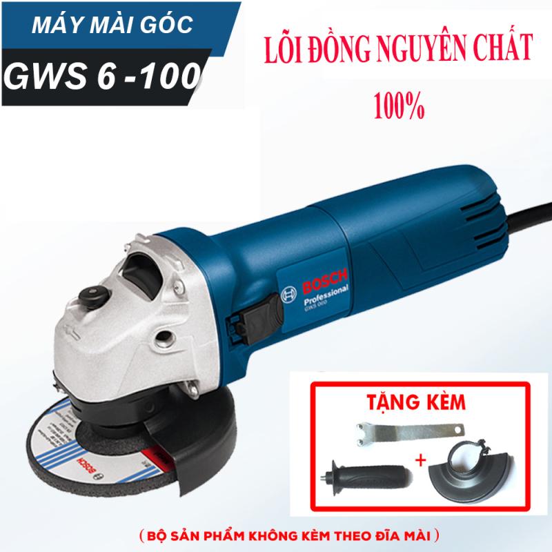 Máy mài điện Bosh chính hãng - Máy cắt 1 tấc 100 mm - GWS 6-100 - Lõi đồng nguyên chất 100% - - Máy cắt cầm tay - Mài sắt , nhôm, tôn,...