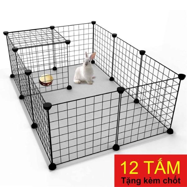 Tấm Lưới Sắt Lắp Ghép Chuồng Chó, Mèo Thú Cưng,Tủ Để Đồ Lắp Ghép Tiện Dụng Nhiểu Kích Thước (Tặng Kèm Chốt)