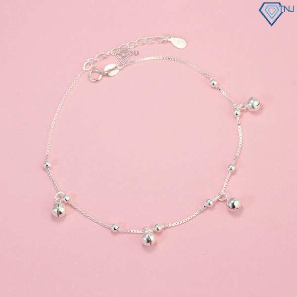 Lắc chân nữ bạc có chuông nhỏ dễ thương LCN0022 - Trang Sức TNJ