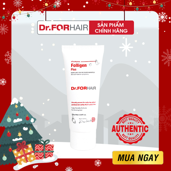 Dầu gội ngăn rụng tóc kích thích mọc tóc Dr FOR HAIR Folligen Plus Shampoo 100ml cao cấp