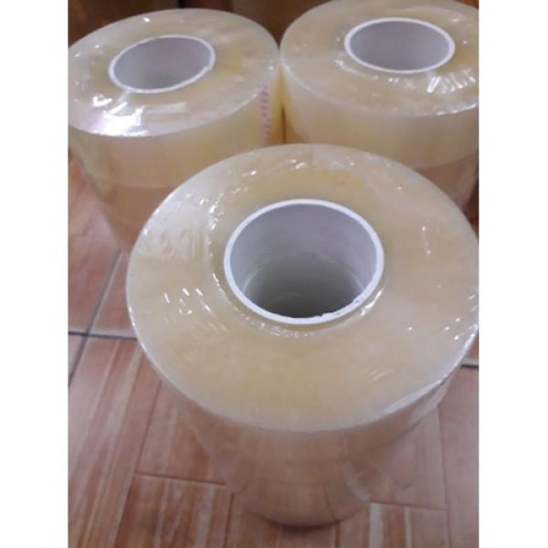 Mua Băng Keo Trong Siêu Dính 1kg, trọnglượng thựccuộn = 1.03kg, 50 micx4.65mm, Lõi Giấy chỉ 3mm ,Băng keo màu trong 1,03 kg 450Met Chuẩn. Băng dính 1kg nguyên trừ lõi, Băng Keo Dán Thùng, Băng Keo Băng Dính Trong và Đục