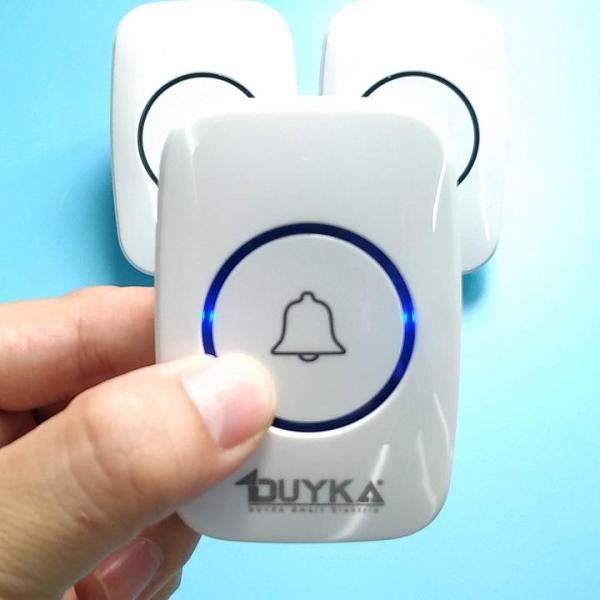 Chuông cửa không dây thông minh - Bộ 2 chuông 1 nút bấm - Duyka DK814-2C1N