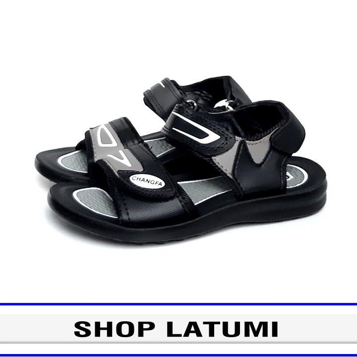 Giày Sandal trẻ em thời trang cao cấp Latumi TA2551 (Đen Phối Xám) Nhật Bản