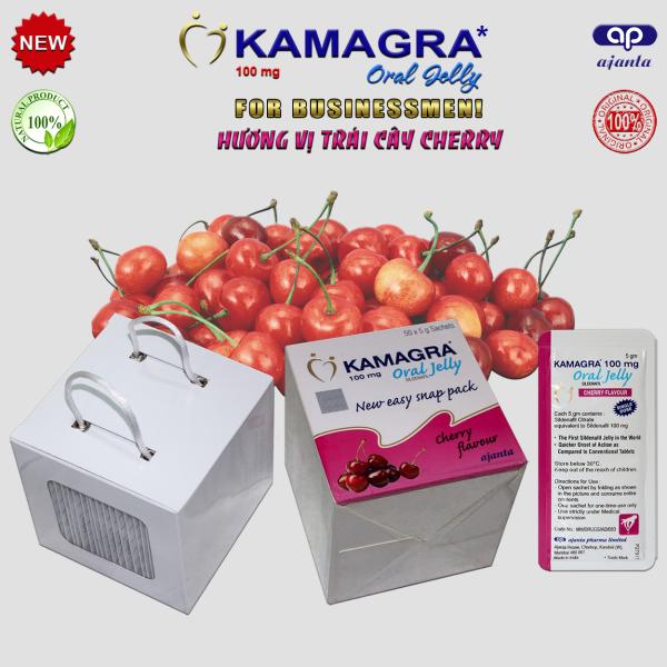 Tăng Cường Sinh Lý Nam Kamagra Oral Jelly (1 Gói) - Hương Vị Cherry
