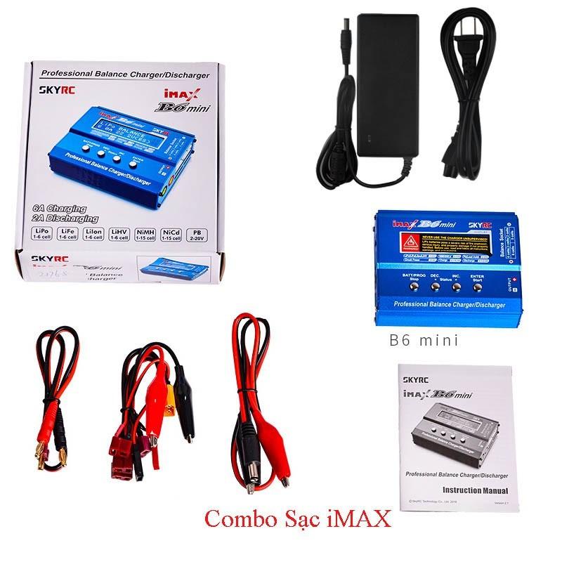 Combo Sạc iMAX B6 Mini Charger SKYRC + Adapter Chính hãng