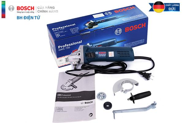 Máy mài góc Bosch chính hãng GWS 750-100 Bảo Hành 12 tháng