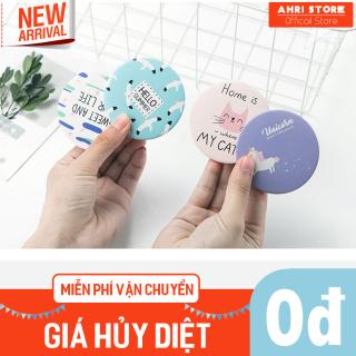 Gương tròn mini bỏ túi xách, dùng son môi, trang điểm, chỉnh marcara kiểu dáng Hàn Quốc 11.GMM.AHRLiL thumbnail