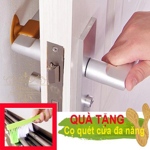 Combo 4 cao su chặn cửa ngăn sập tường, trầy tường, giảm ồn . Tặng 1 chổi cọ quét cửa đa năng