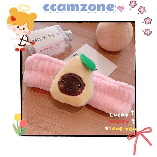 Băng đô bông rửa mặt hình trái bơ CD395 Ccamzone phụ kiện tóc cài tóc