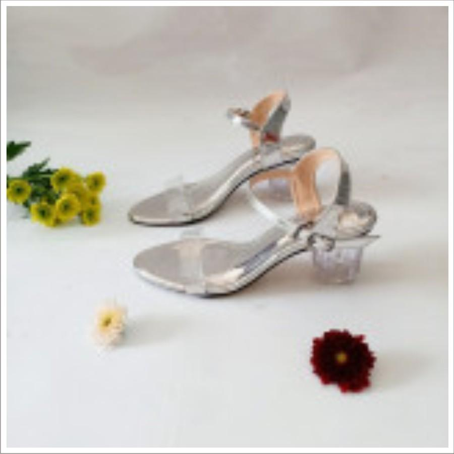 Giày cao gót nữ Đế tròn trong suốt sang chảnh. Hàng Việt Nam Xuất khẩu Châu Âu.(Sản phẩm giao như hình Shop tự chụp)