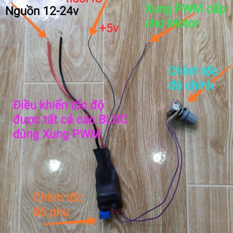 Điều tốc PWM 12-24v cho Motor không chổi than