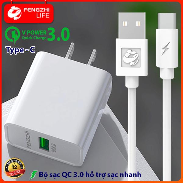 Giá Combo củ sạc nhanh, dây sạc nhanh, bộ sạc nhanh, sạc bộ, củ sạc nhanh USB QC3.0, có dây micro, Type C Dành Cho Điện Thoại Có Hỗ Trợ Sạc Nhanh . FENGZHI LIFE FC273