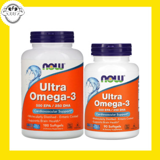 FISH OIL - NOW FOODS - ULTRA OMEGA-3 - Giúp sáng mắt bổ não đẹp da ngăn ngừa cholesterol xấu hương CHANH - Từ Mỹ thumbnail