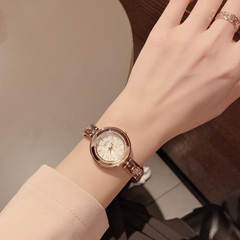 Đồng hồ nữ Julius Hàn Quốc JA-624 dây kim loại màu đồng