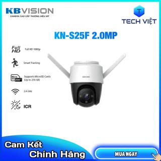 [HCM][HÀNG CHÍNH HÃNG] Camera Wifi PTZ Full Color 2MP KBONE KN S25F Màu đêm đàm thoại 2 chiều báo động đèn còi Soft AP- TECH VIỆT thumbnail