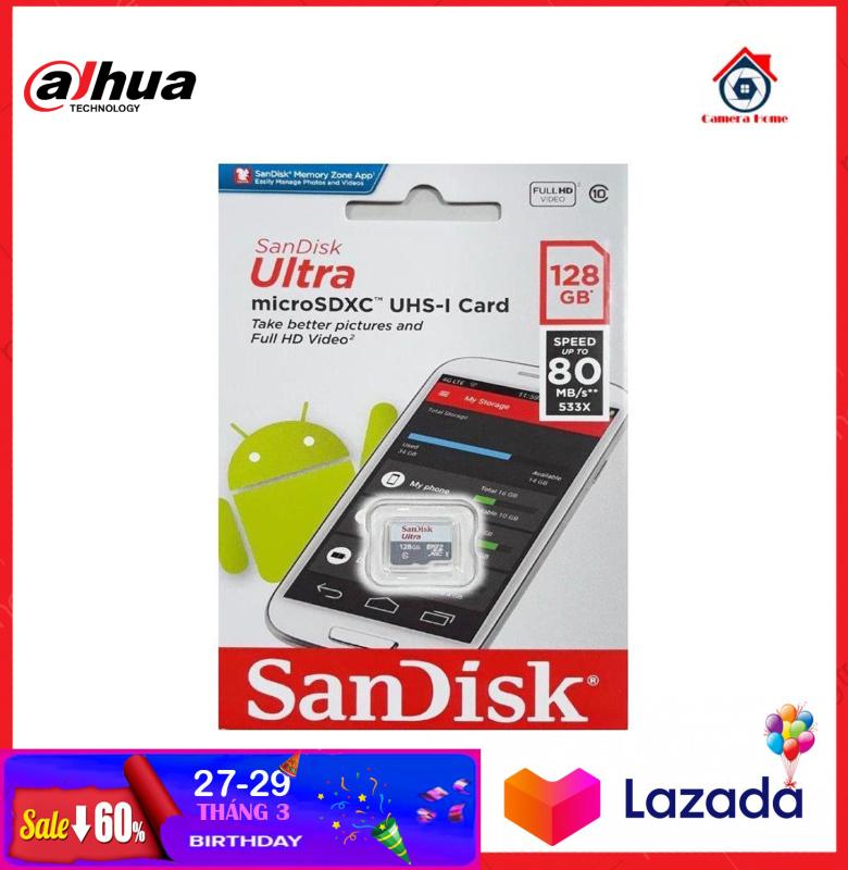 [BEST SELLER]- Thẻ Nhớ SANDISK 128GB - Camera Home