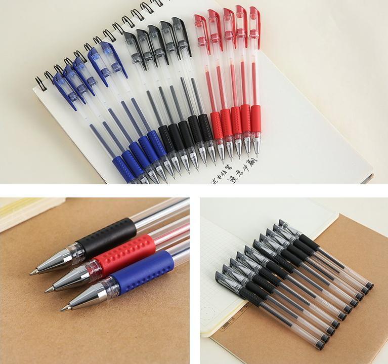 Bộ 20 Bút Bi Nước Siêu Bền, Bút Bi Mực Nước Xanh, Đen Nhật Bản