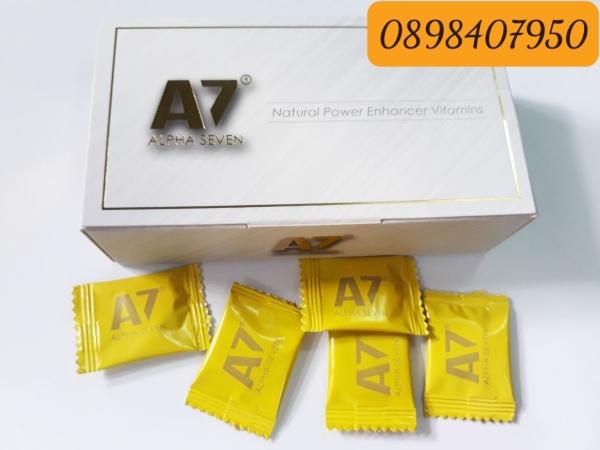 ( 1 Viên )Kẹo A7 Alpha Seven - Tăng Cường Sinh Lý Nam Giới Cực Mạnh Vị Chanh - Hàng Chính Hãng