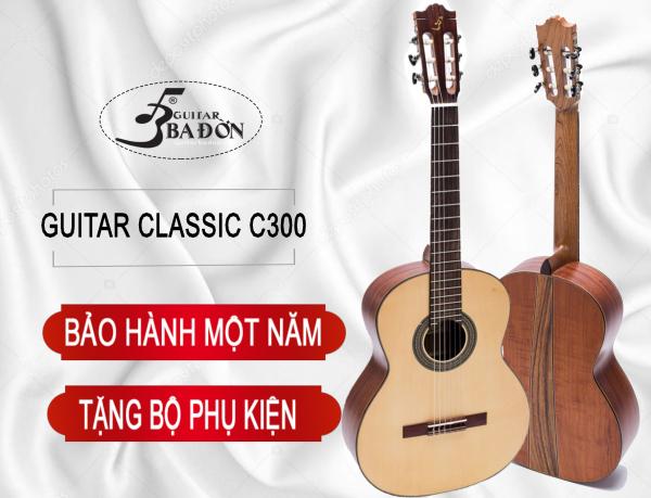 Đàn Guitar Classic C-300 tặng bao đàn cao cấp 3 lớp