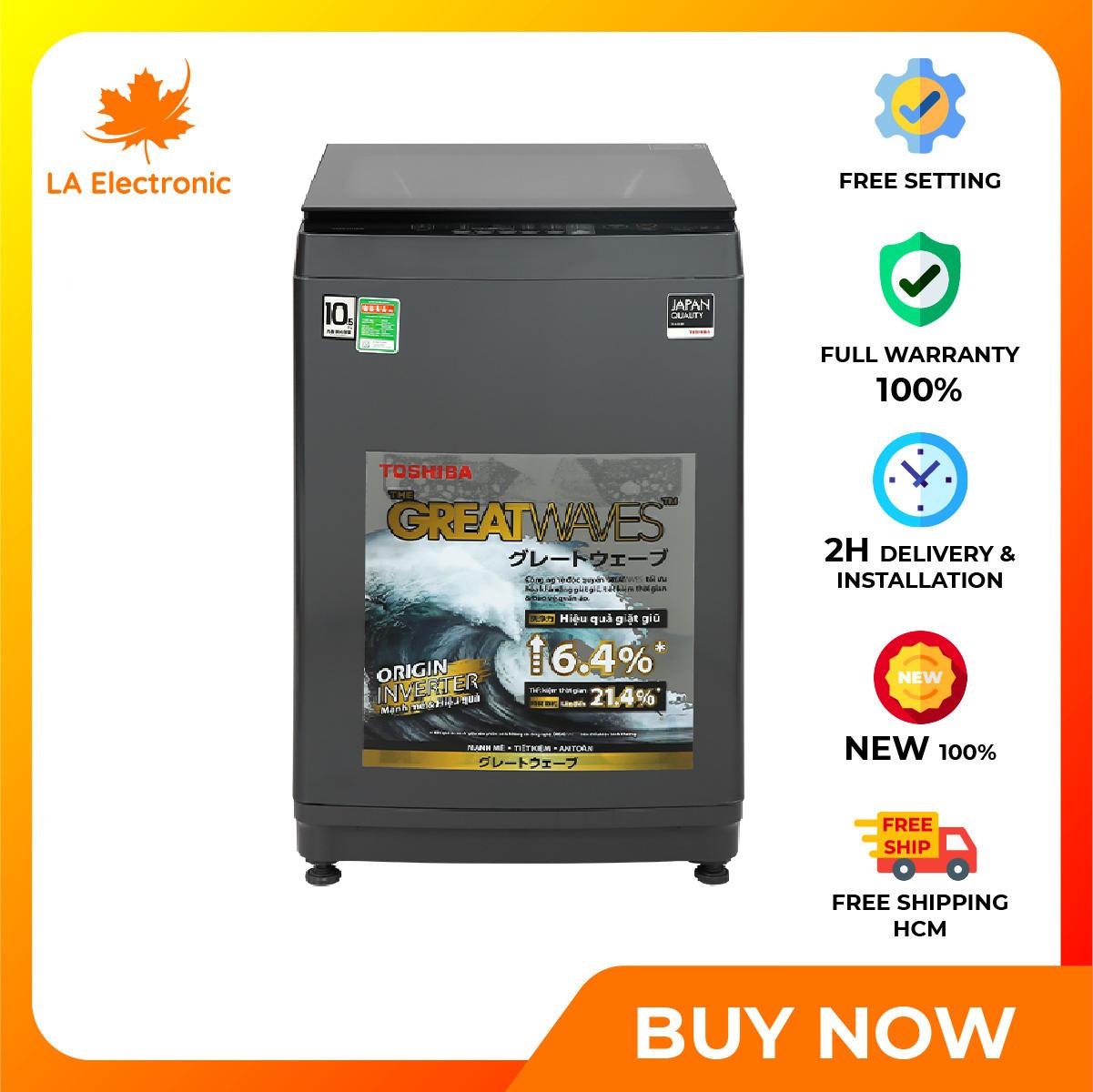 [GIAO HÀNG 2 - 15 NGÀY, TRỄ NHẤT 15.08] Máy giặt Toshiba Inverter 10,5 kg AW-DUK1150HV(MG) - Miễn phí vận chuyển HCM - Hẹn giờ bắt đầu giặtKhóa trẻ emTự khởi động lại khi có điệnVệ sinh lồng giặt