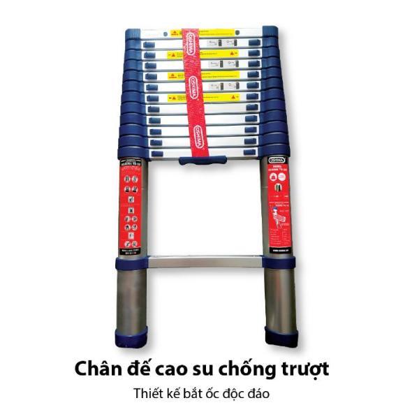 Thang nhôm rút đơn Oshima TD 51, 5.1M bền,chắc chắn,đế cao su chống trượt an toàn tuyệt đối khi sử dụng