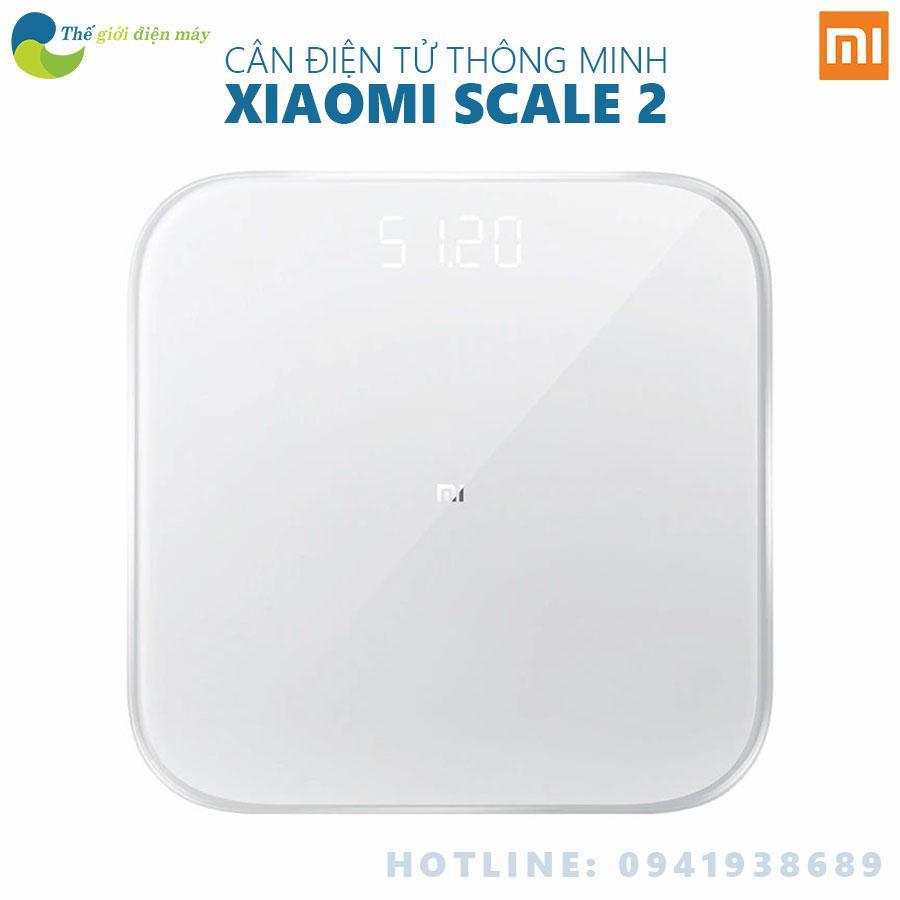 Cân điện tử thông minh Xiaomi Scale 2 theo dõi sứ khỏe đồng bộ với điện thoại - Bảo hành 6 tháng - Shop Thế giới điện máy nhập khẩu