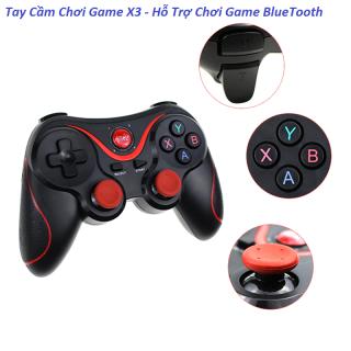 Tay cầm gamer hỗ trợ chơi game bluetooth X3 - Tay cầm gamepad X3 - Tay game psp xbox - Tay cầm chơi gane pubg lien quân ff cho tivi box giá rẻ thumbnail