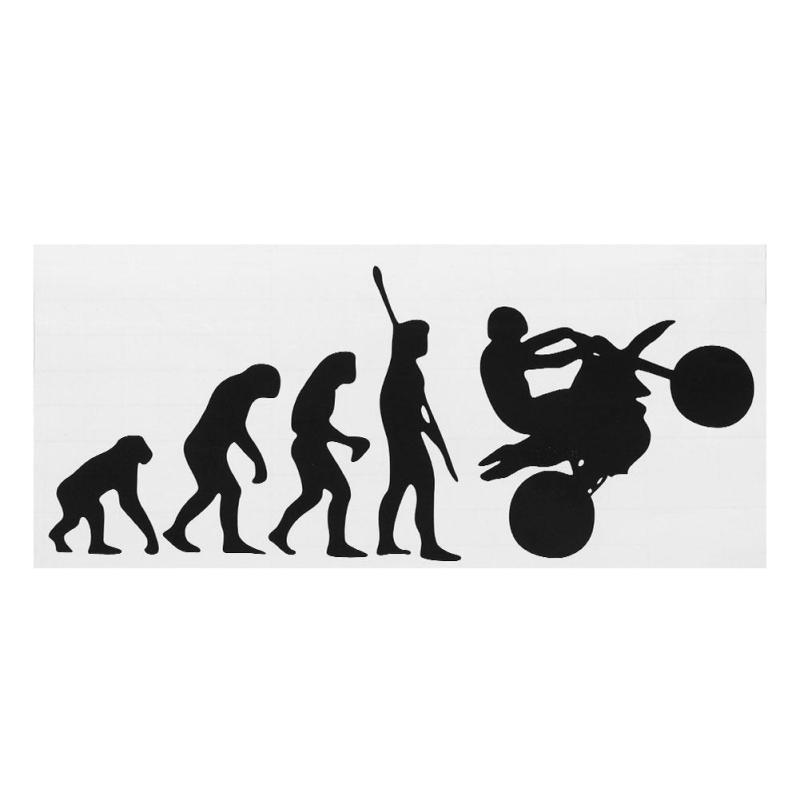 Tiến Hóa loài người Miếng Dán Có Thể Tháo Rời Cửa Sổ Ô Tô Thân Cây Decal Trang Trí 20x9 cm-quốc tế