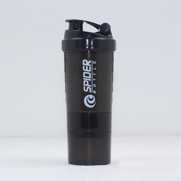 Bình nước Spider - bình nước tập gym 3 ngăn 650ml