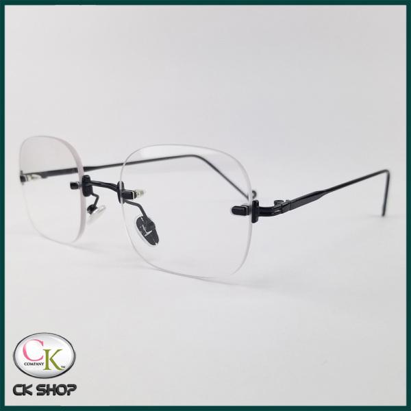 Mua Gọng kính cận nữ - nam mắt chữ nhật không viền, gọng kính màu đen, bạc, vàng 3511. Tròng kính giả cận 0 độ chống ánh sáng xanh, chống tia UV