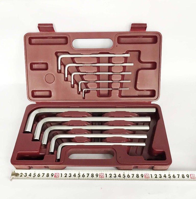 Bộ lục giác 10 chi tiết hệ mét 3-17mmTOP TWT-10 (Đỏ)